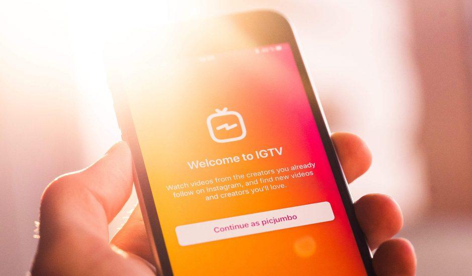 photo montrant l'application IGTV