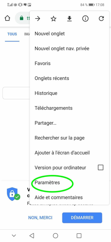Comment désactiver les notifications Google Chrome sur Androïd partie 2