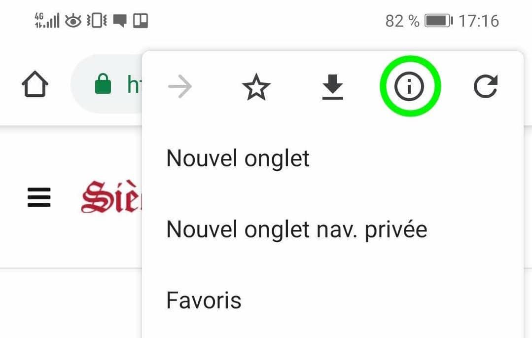 Comment désactiver les notifications Google Chrome sur Androïd partie 7