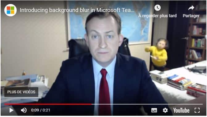 Skype permet désormais de flouter l'arrière plan pour éviter ce genre de scène