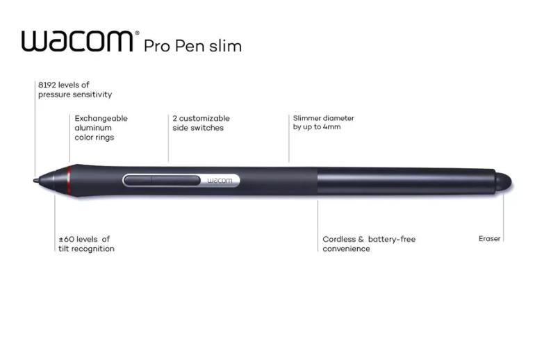 wacom le nouveau stylet Pro Pen Slim