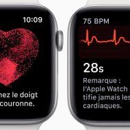 Une application est liée à la surveillance de votre coeur par l'Apple Watch
