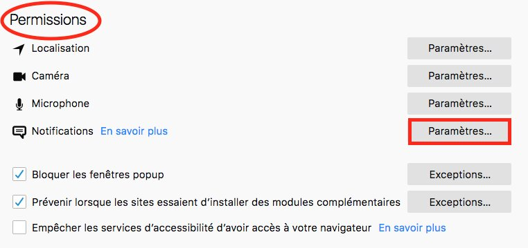 Comment désactiver les notifications sur Firefox image 5
