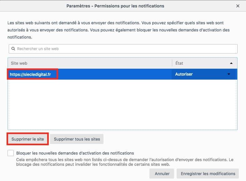 Comment désactiver les notifications sur Firefox image 6