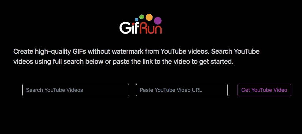 générer un gif hd à partir de vidéo YouTube