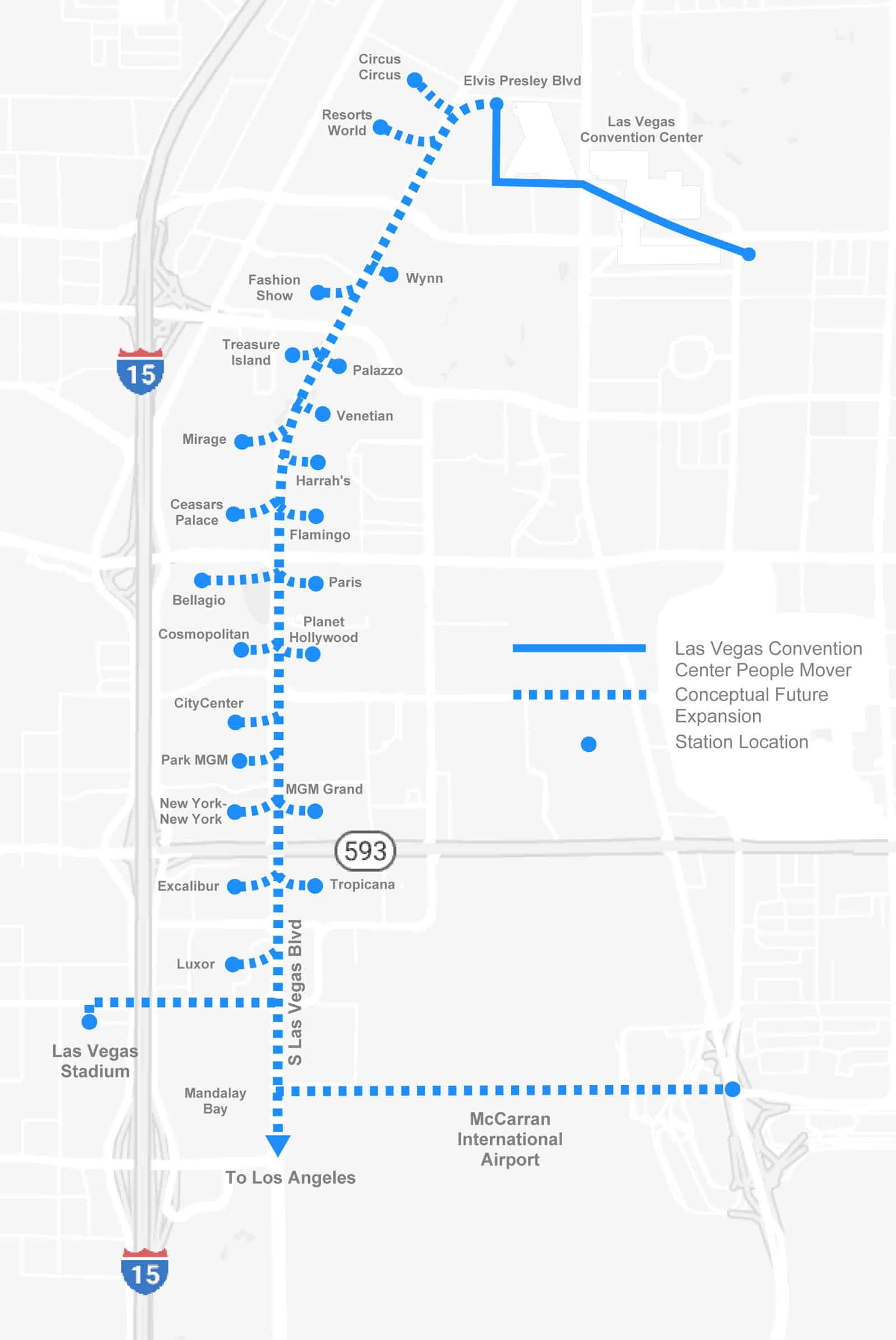 Le plan du tunnel de The Boring Company à Las Vegas