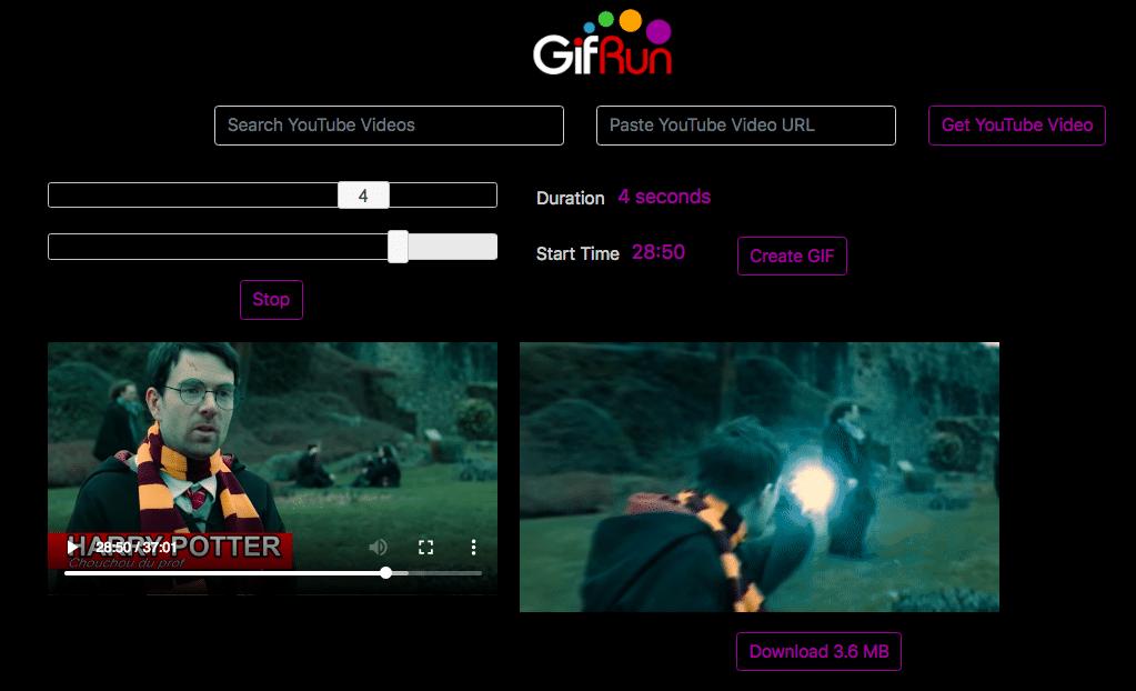 générer gif hd vidéo youtube