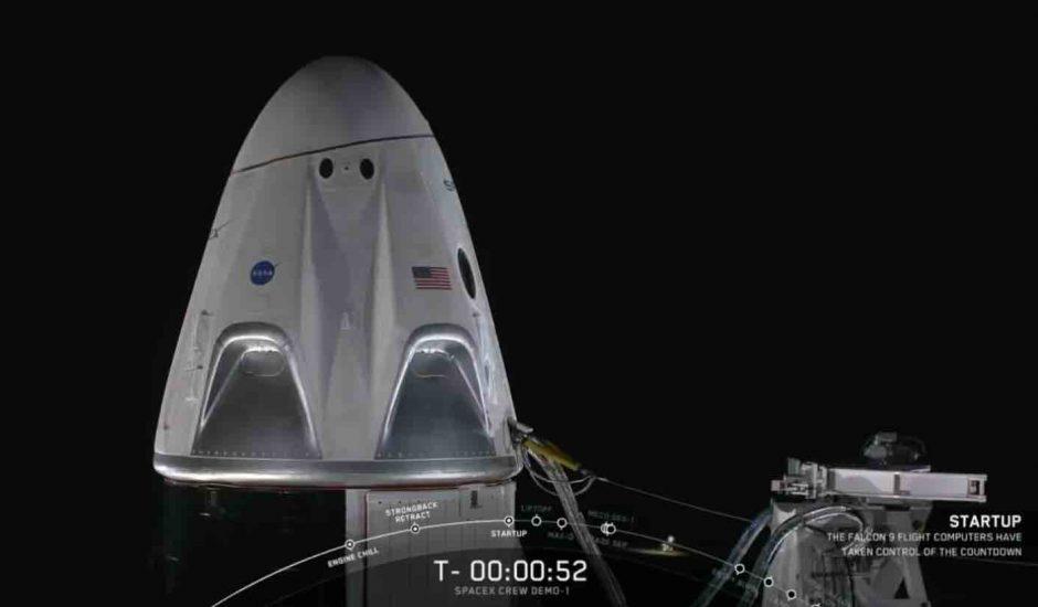 SpaceX réussit parfaitement le lancement de sa capsule en direction de l'ISS.