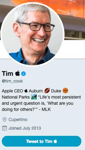 Trump nomme Tim Cook, Tim Apple.