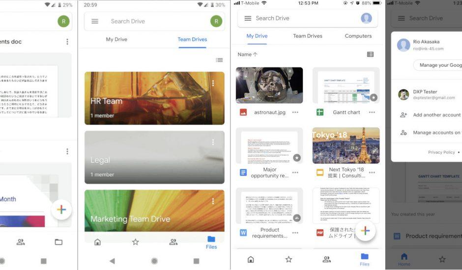 L'application Google Drive passe au Material Design