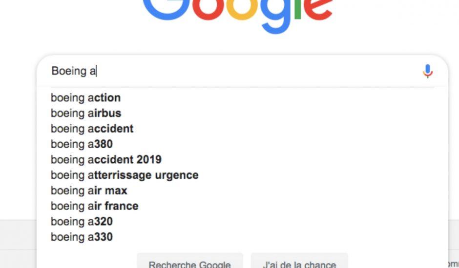 suggestion Google