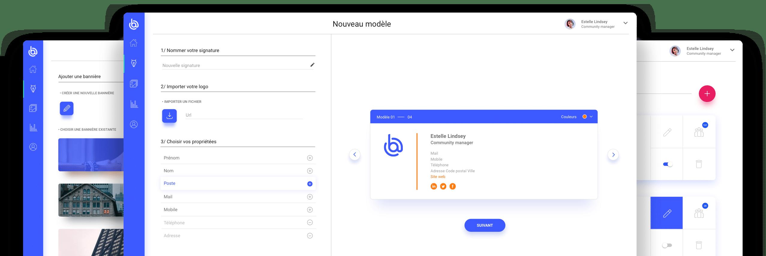 interface de l'outil boostmymail