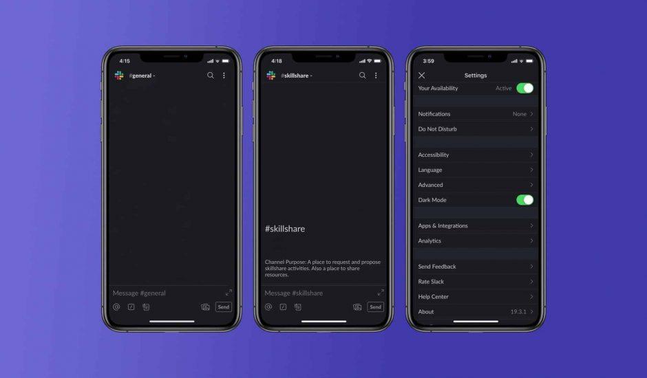 dark mode Slack iOS