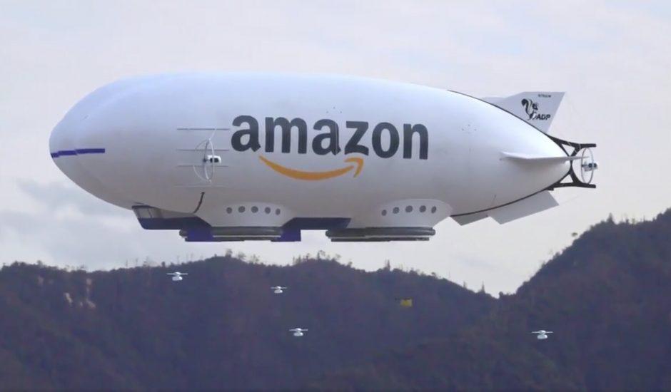 """Le concept d'entrepôt volant ou """"centre de traitement aéroporté"""" d'Amazon a momentanément pris vie sur Twitter"""