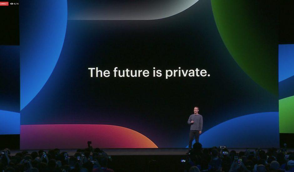 Phrase clé pour l'intervention de Mark Zuckerberg au F8 : the future is private