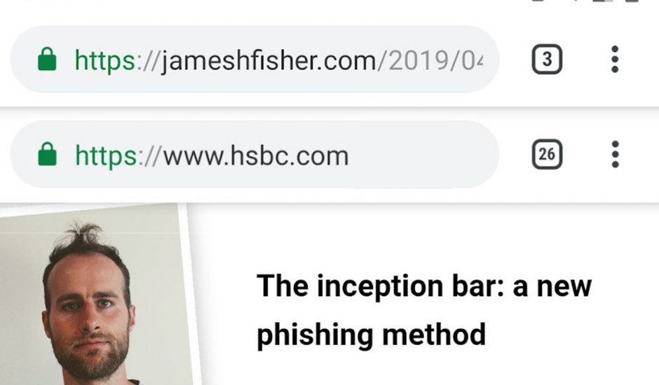 James Fisher phishing chrome