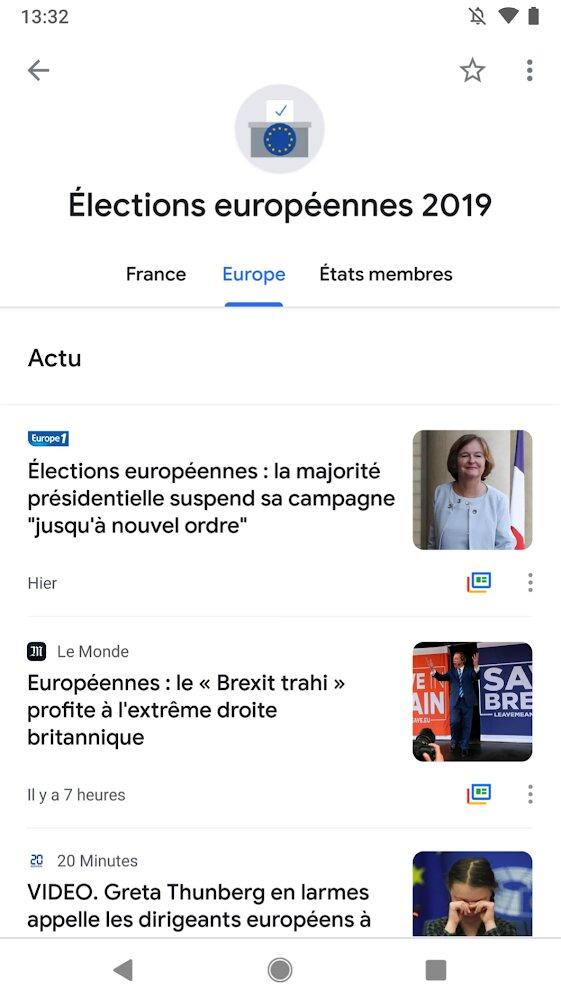 Google met en place une rubrique spéciale sur Google Actualités en vue des élections européennes