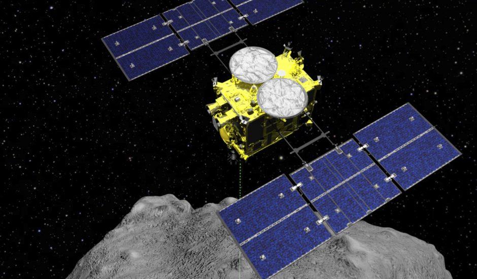 Le Japon bombarde l'astéroïde Ryugu.