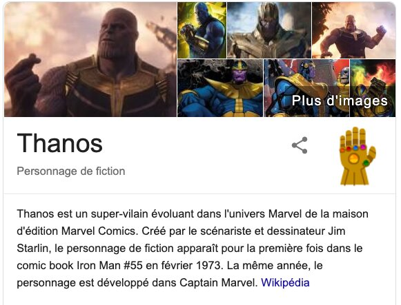 Surprise google avengers thanos