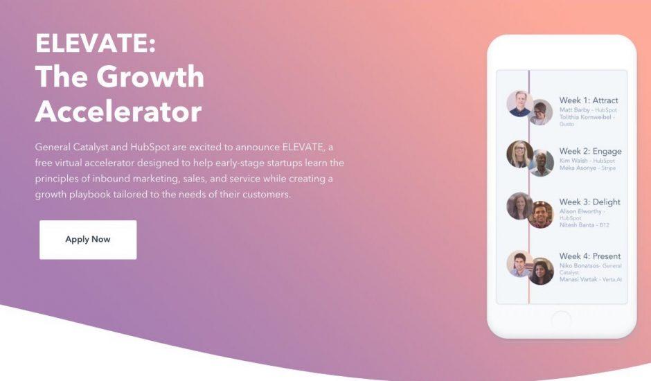 ELEVATE, le nouveau programme de HubSpot pour accompagner les start-ups dans leur développement.