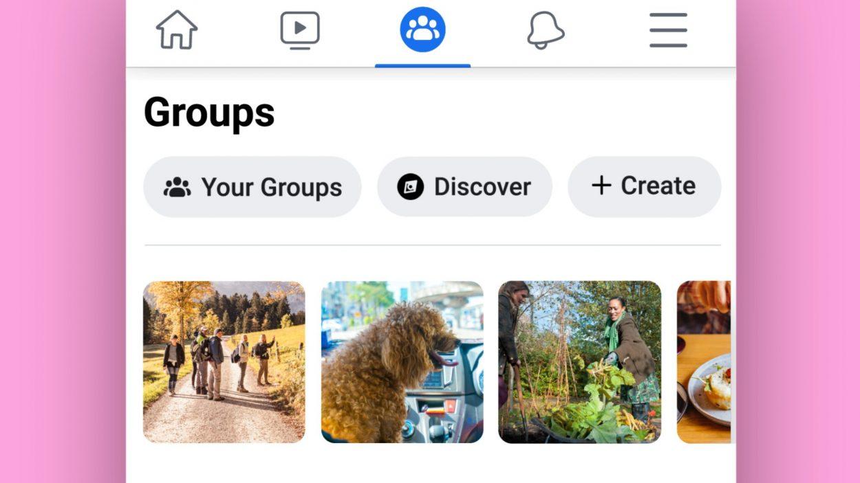 Un onglet Discover pour trouver des groupes Facebook intéressant