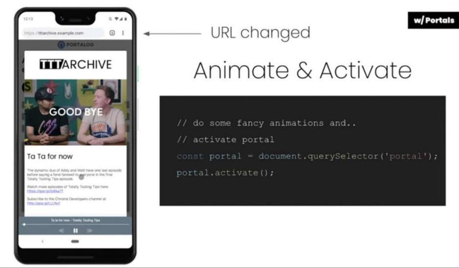 Portals, la nouvelle fonctionnalité pour la transition entre les pages de Google Chrome