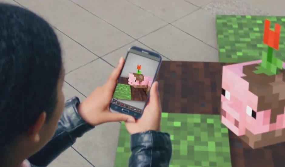 Minecraft en réalité augmentée