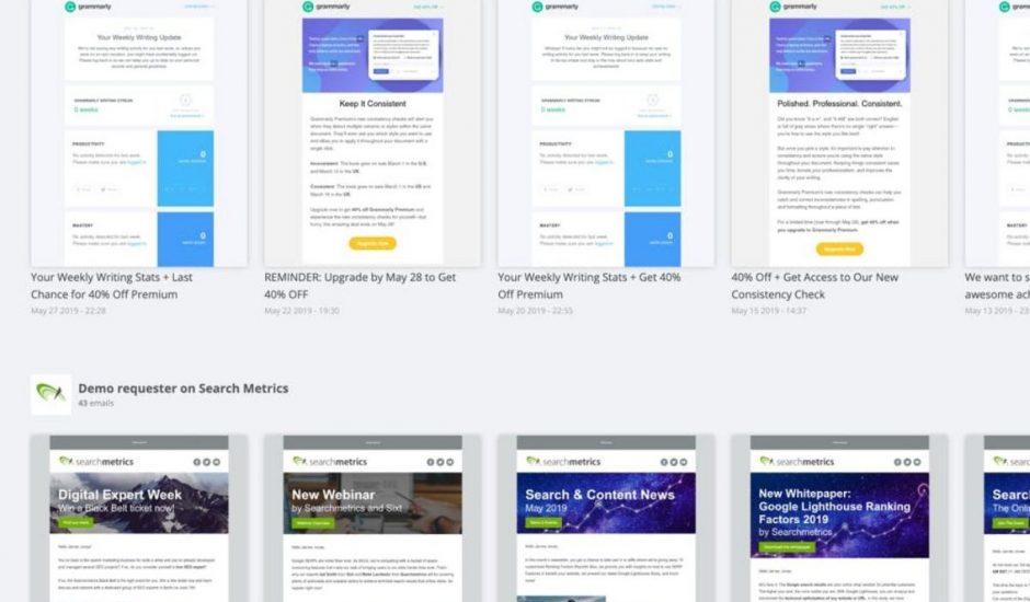 Bibliothèque design email landing pages
