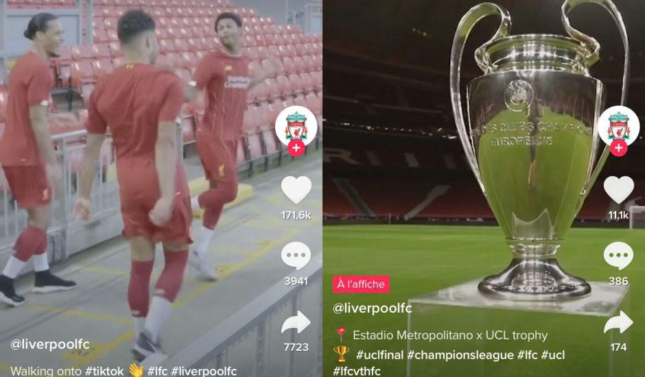 Liverpool FC ouvre son compte TikTok