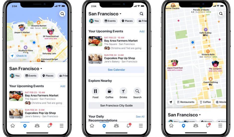 Nouvelle interface de Facebook pour mettre en avant les événements