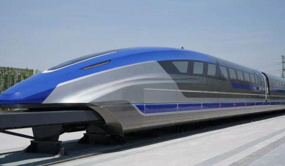 Le CRRC de Chine présente son nouveau train capable de se déplacer à près de 600km/h.