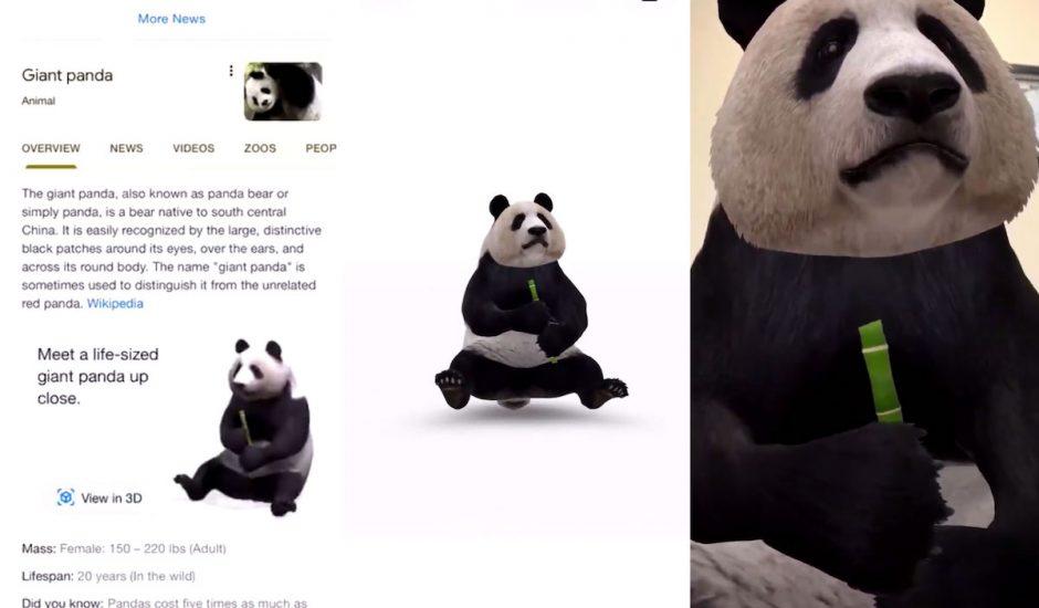Les images en réalité augmentée débarquent sur Google