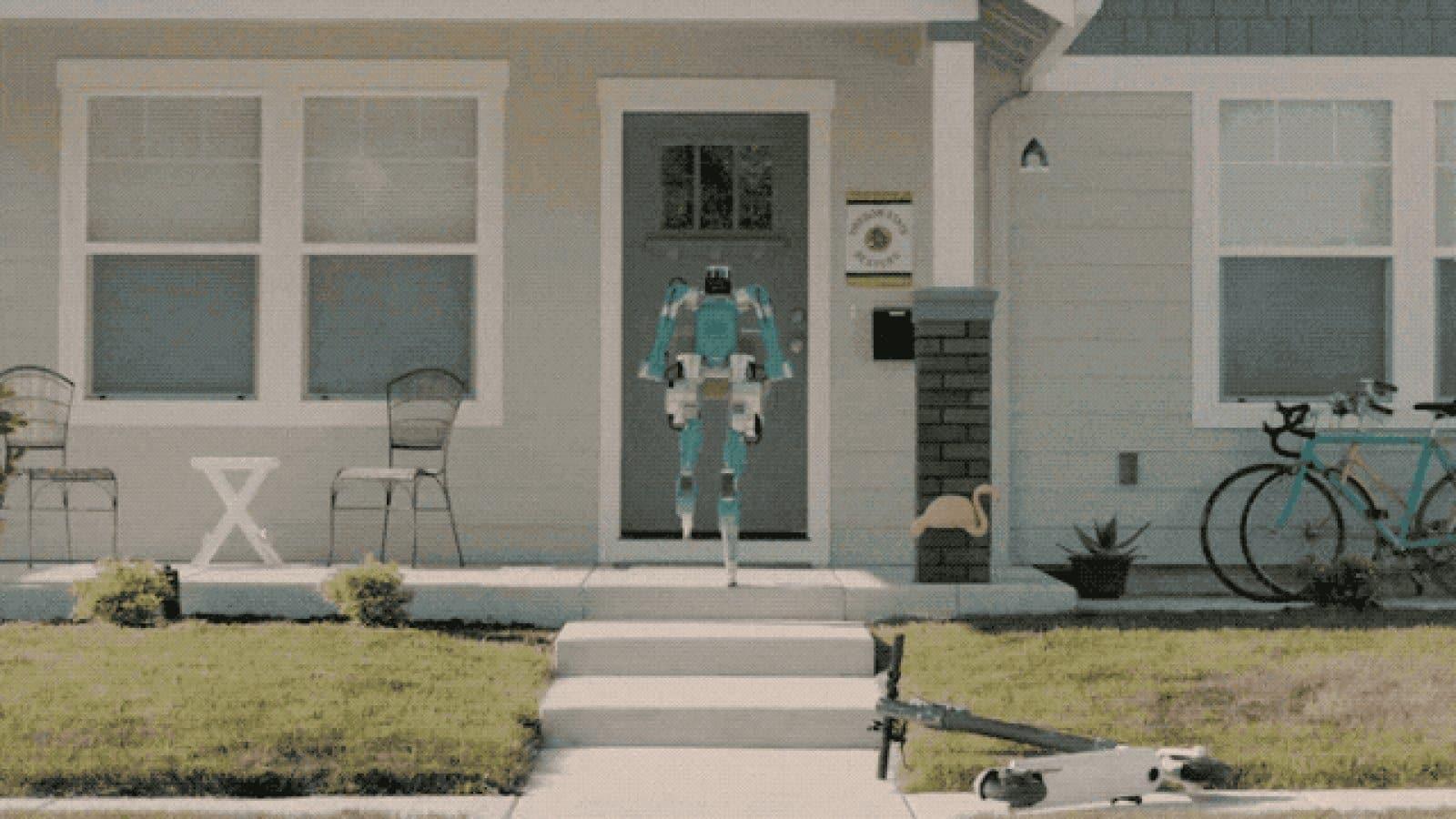 Le constructeur américain imagine un robot autonome capable de nous livrer à domicile.