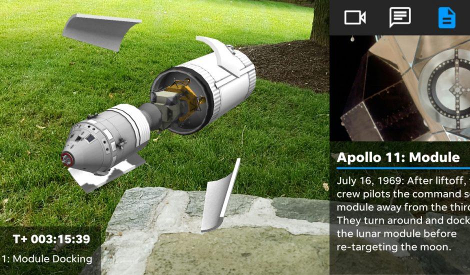 Une application pour revoir le départ de Apollo 11 en realité augmentée