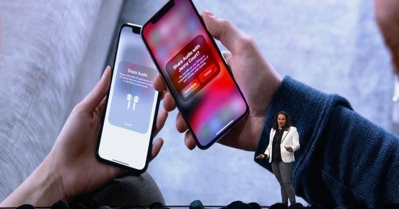 Fonctionnement du partage audio sur iOS 13