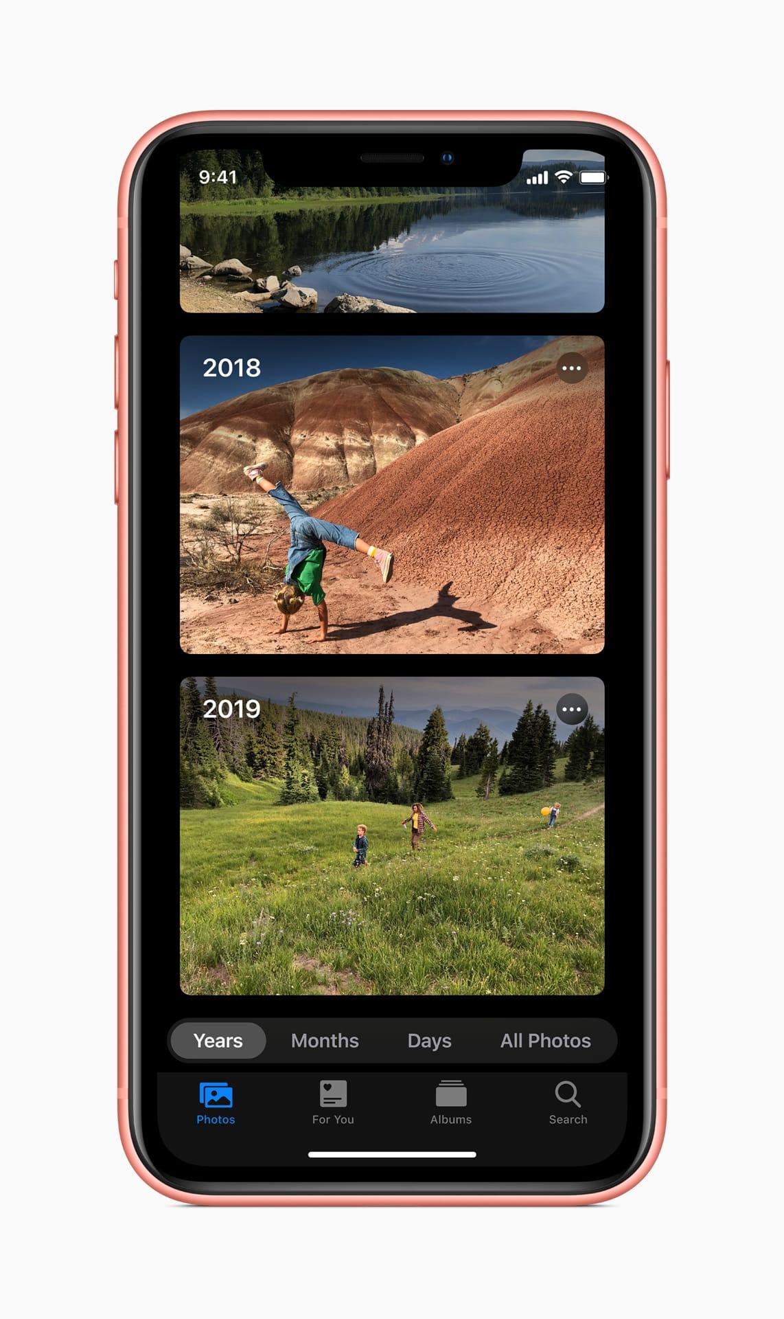 Présentation de la nouvelle application Photos sur iOS