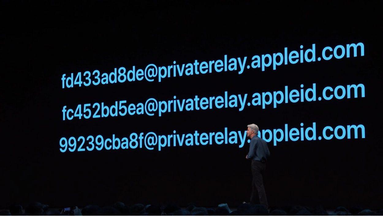 Apple créera des emails chiffrés pour créer des comptes où vous le désirez.