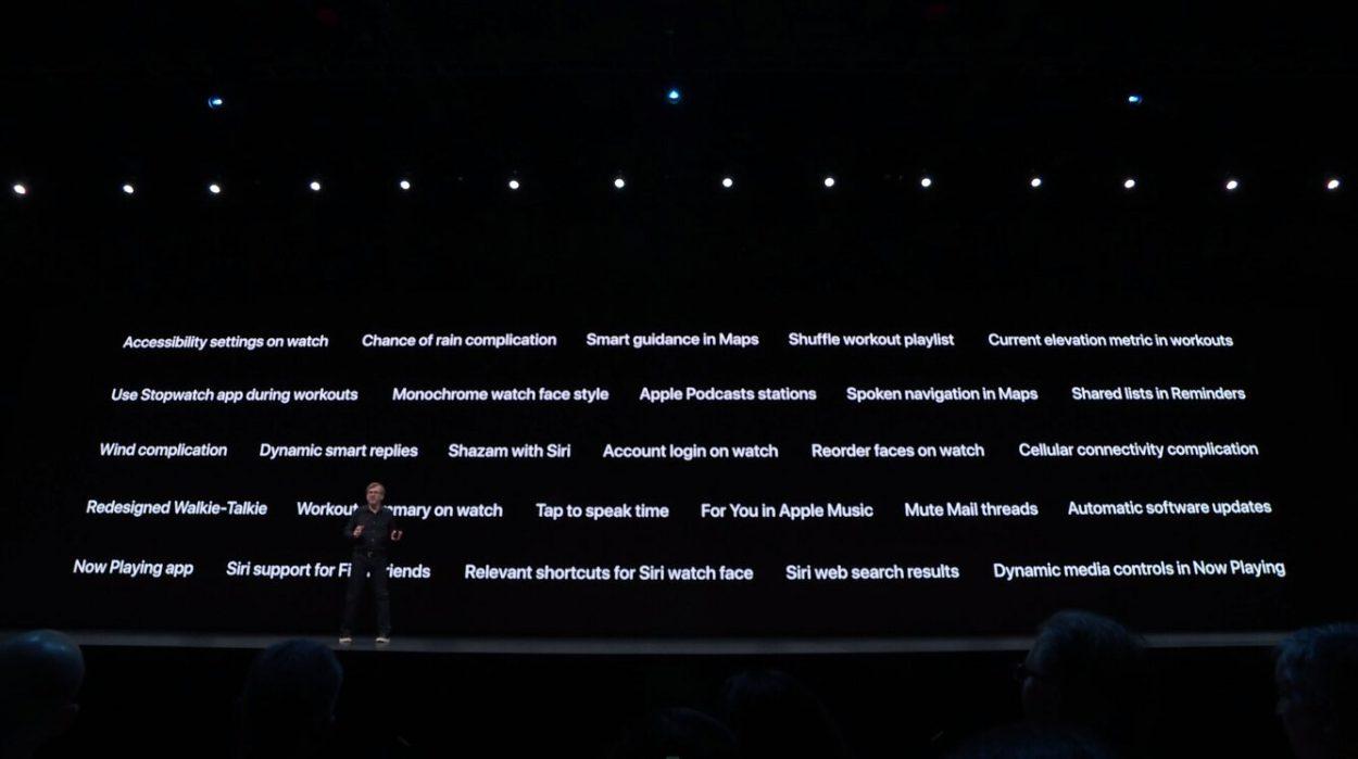 Les fonctionnalités lancées avec watchOS 6