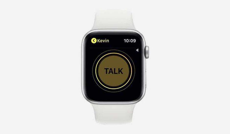 Apple Watch supprime Talkie-Walkie.