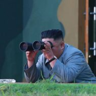 Kim Jong-Un le 25 juillet 2019. Crédit : KCNA VIA KNS / AFP