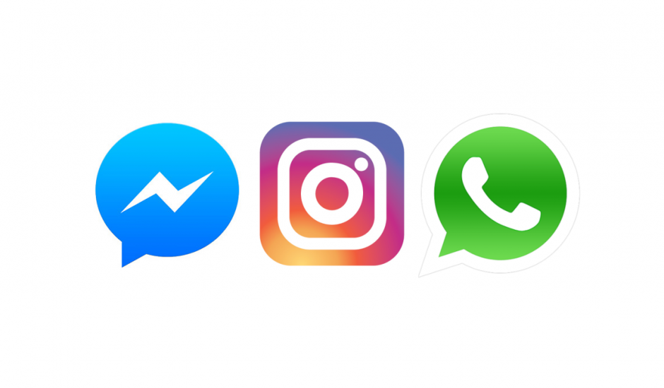 logo de Messenger Instagram et WhatsApp