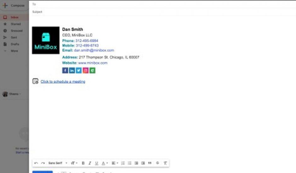 un outil de création de signature email