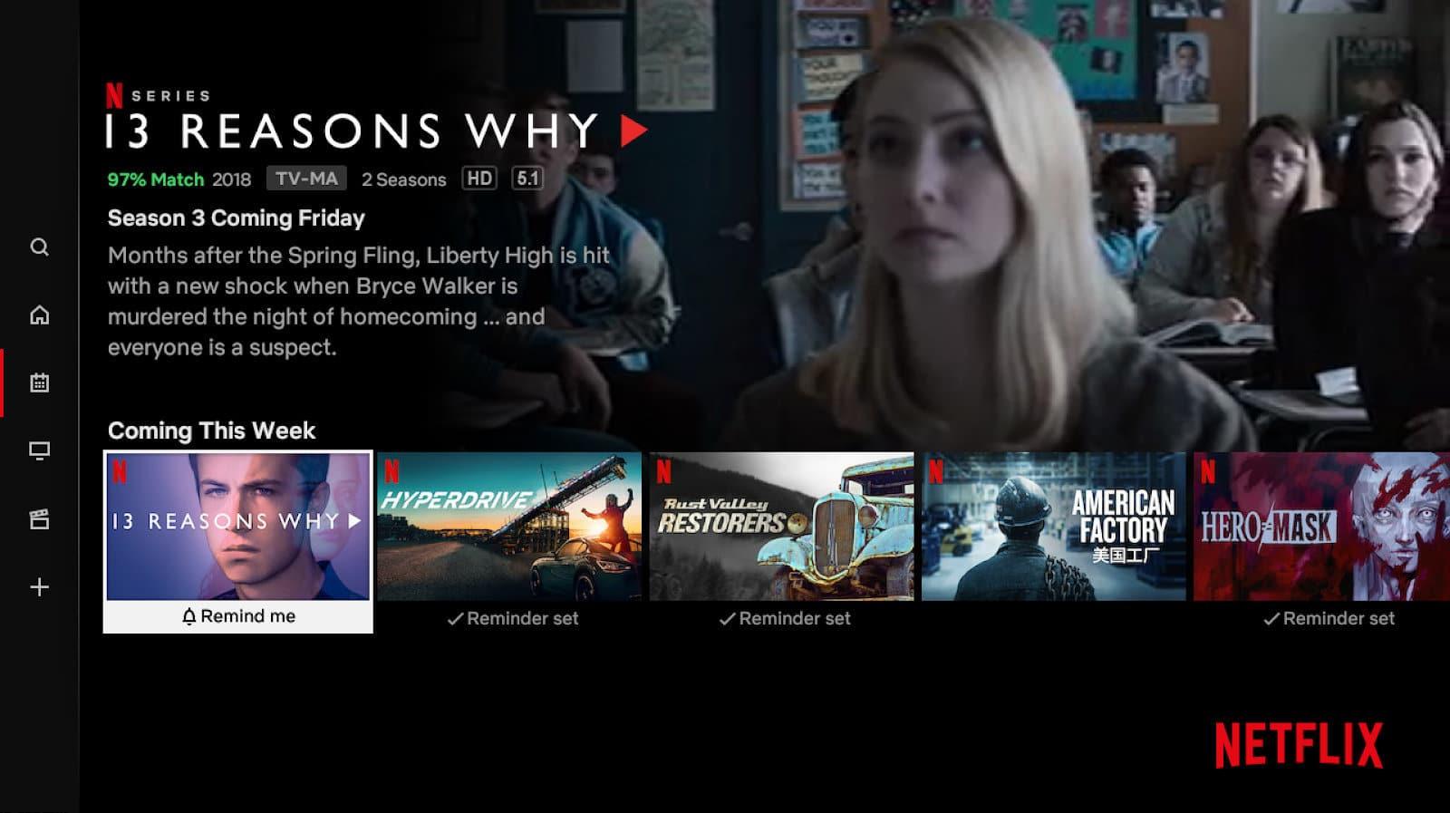 "Netflix lance ""rappelez-moi""."