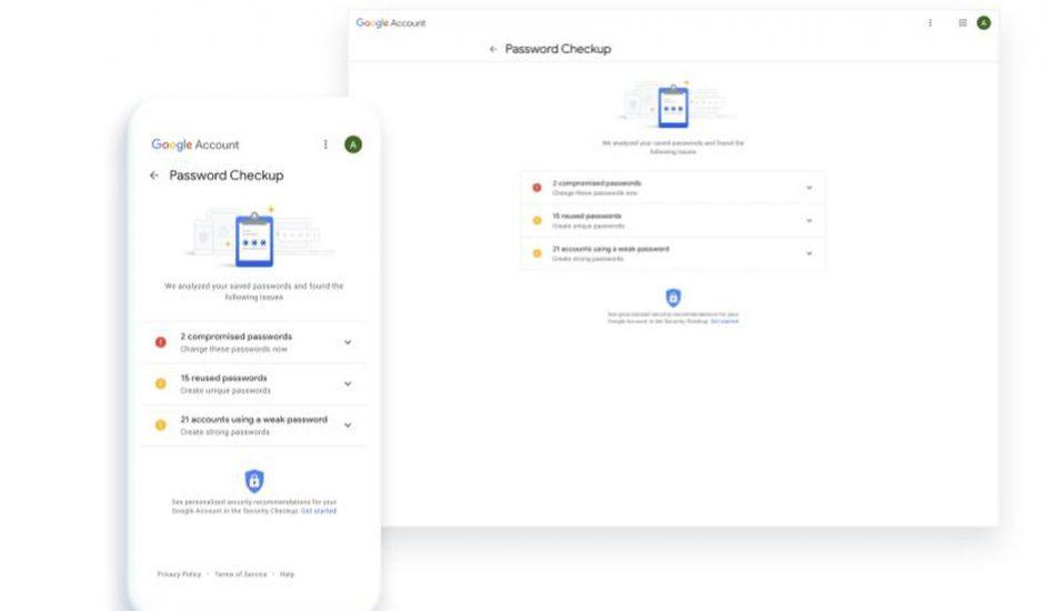 Google peut vérifier nos mots de passe.