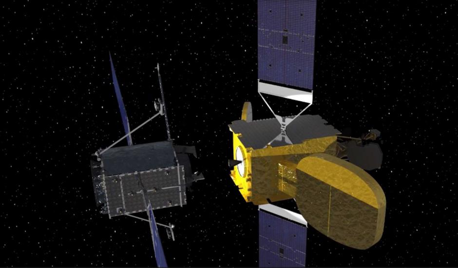 Un remorqueur spatial MEV-1, normalement capable d'augmenter la durée de vie des autres satellites