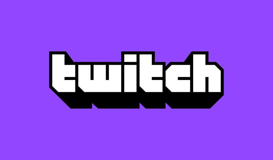 Le nouveau logo de Twitch sur fond violet.