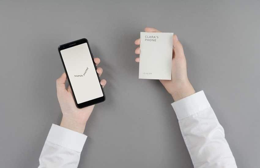 google phone, le portable version papier de Google