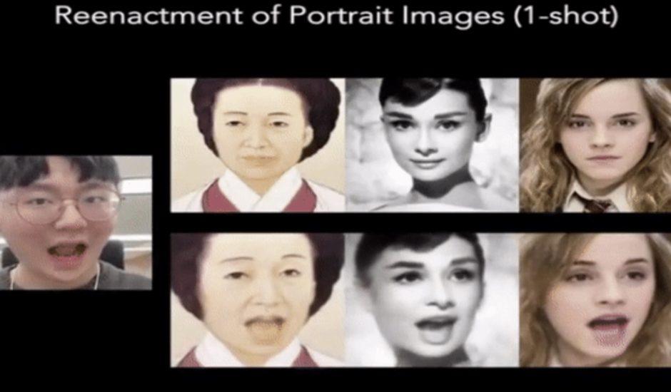 Une IA pour animer un visage.