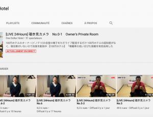 Chaine YouTube one dollar hotel