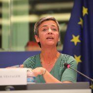 Margrethe Vestager, elle est vice-présidente exécutive de la Commission européenne pour une Europe préparée à l'ère numérique
